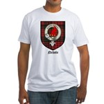 Nichols Clan Crest Tartan Fitted T-Shirt