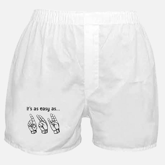 Easy as One Two Shocker Boxer Shorts
