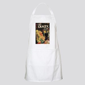 LIKE CRAZY, MAN BBQ Apron