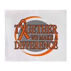 Kidney Cancer Support 2 Throw Blanket