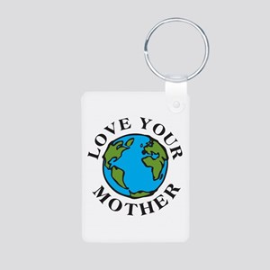Love Your Mother Aluminum Photo Keychain