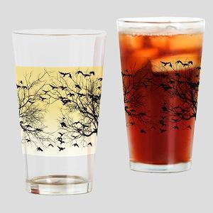 Crow flock Drinking Glass