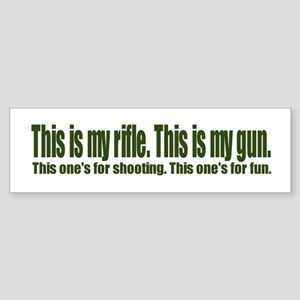 This Is My Gun Bumper Sticker