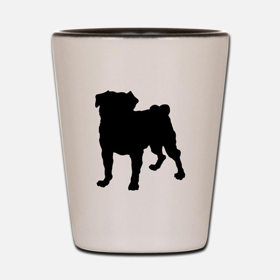 Christmas or Holiday Collie Silhouette Shot Glass