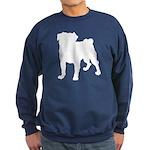 Pug Silhouette Sweatshirt (dark)