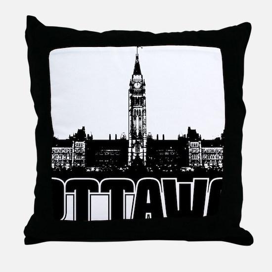 Ottawa Skyline Throw Pillow
