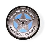 Sovereign & Covenant Badge Wall Clock