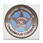Sovereign & Covenant Badge Tile Coaster