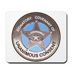 Sovereign & Covenant Badge Mousepad