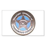 Sovereign & Covenant Badge Rectangle Sticker