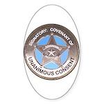 Sovereign & Covenant Badge Oval Sticker