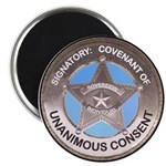 Sovereign & Covenant Badge Magnet