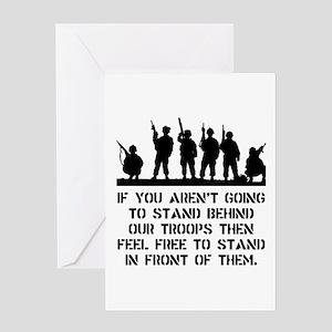 Stand Behind Troops Greeting Card