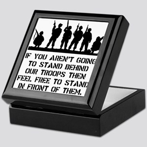 Stand Behind Troops Keepsake Box