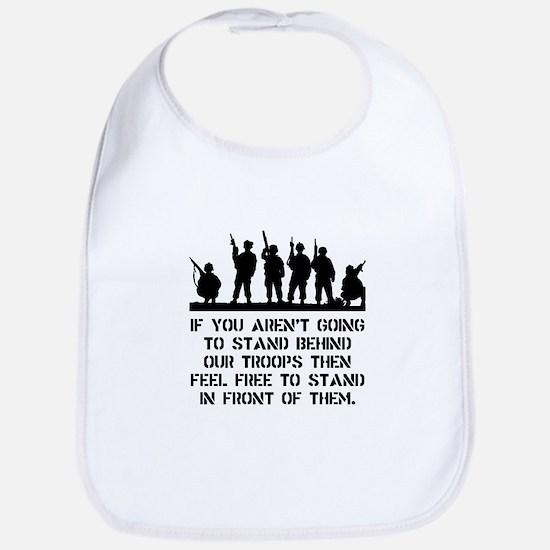 Stand Behind Troops Bib