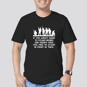 Stand Behind Troops Men's Fitted T-Shirt (dark)