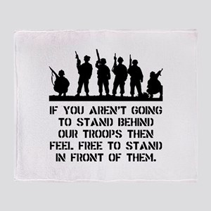 Stand Behind Troops Throw Blanket