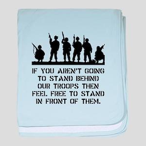 Stand Behind Troops baby blanket