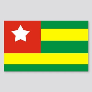 Rasta Gear Shop Togo Flag Rectangle Sticker