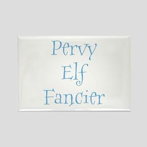 Pervy Elf Fancier Rectangle Magnet