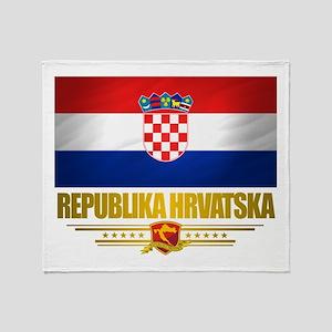 """""""Croatia Pride"""" Throw Blanket"""