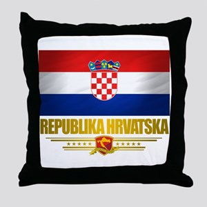"""Croatia Pride"" Throw Pillow"