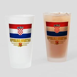 """Croatia Pride"" Drinking Glass"