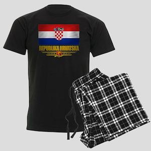 """""""Croatia Pride"""" Men's Dark Pajamas"""