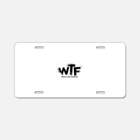 Cute Wtf Aluminum License Plate