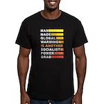 Socialist Power Grab Men's Fitted T-Shirt (dark)