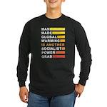 Socialist Power Grab Long Sleeve Dark T-Shirt