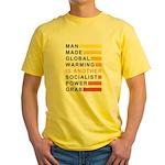 Socialist Power Grab Yellow T-Shirt