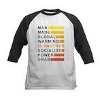 Socialist Power Grab Kids Baseball Jersey