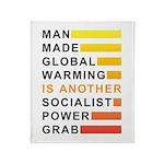 Socialist Power Grab Throw Blanket