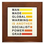 Socialist Power Grab Framed Tile