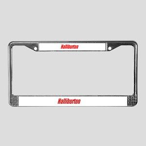 halliburton  License Plate Frame