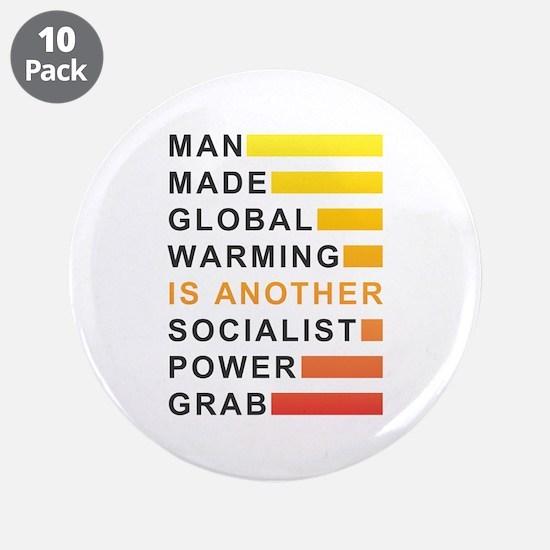 "Socialist Power Grab 3.5"" Button (10 pack)"
