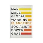 Socialist Power Grab Rectangle Magnet