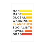 Socialist Power Grab Sticker (Rectangle 50 pk)
