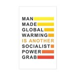 Socialist Power Grab Sticker (Rectangle)