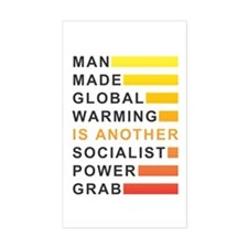 Socialist Power Grab Sticker (Rectangle)