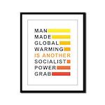 Socialist Power Grab Framed Panel Print
