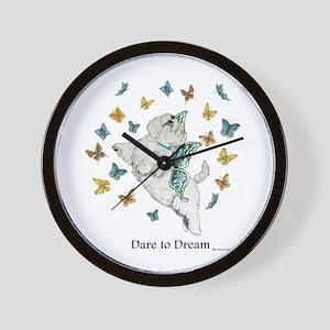 Dare To Dream Westie Wall Clock