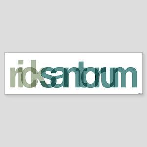 Rick Santorum Sticker (Bumper)