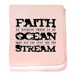 Faith is Knowing V2 baby blanket