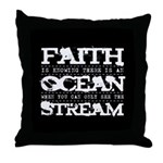 Faith is Knowing V2 Throw Pillow