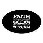 Faith is Knowing V2 Sticker (Oval)