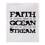 Faith is Knowing V2 Throw Blanket