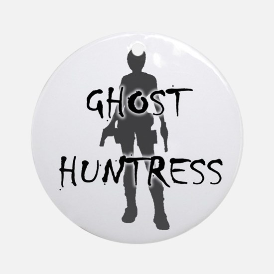 Ghost Huntress Ornament (Round)