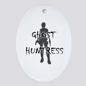 Ghost Huntress Ornament (Oval)